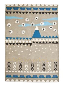 Flaky fields & mountain drops - 120 x 180 cm