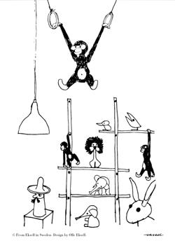 Monkey Bojesen - 50 x 70 cm