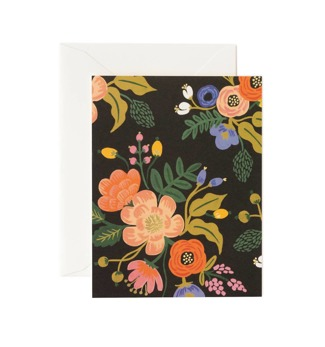 Lively floral - Svart