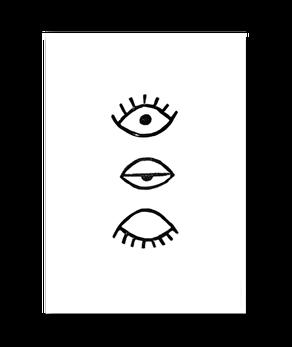 Eye Eye Svart - Poster