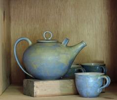 Teservice Blågrön keramik