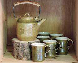 Teservice I Ching keramik