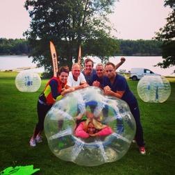 TV4 Sport spelade BubbleBall på sin teambuilding-aktivitet i September 1014 och älskade det!
