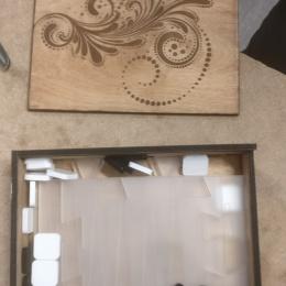 Backgammon, lasercut and engraved