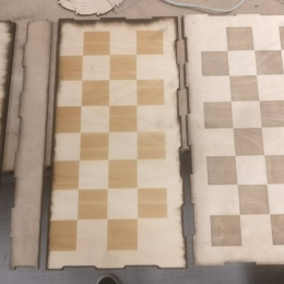 Chess, lasercut and engraved