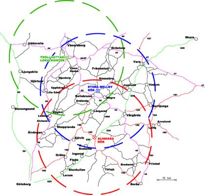 Med vårt strategiska läge når vi effektivt ut till inte mindre än elva kommuner med dess tätorter inom 4,5 mils radie.