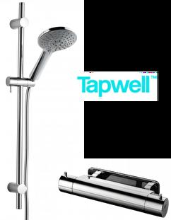 Tapwell duschset ZSAL194 på köpet vid köp av deras blandare EVM 168-160