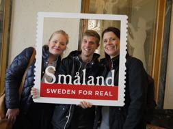 Ann-Sofie, Jakob och Stine från Glasriket på Exportdagen.