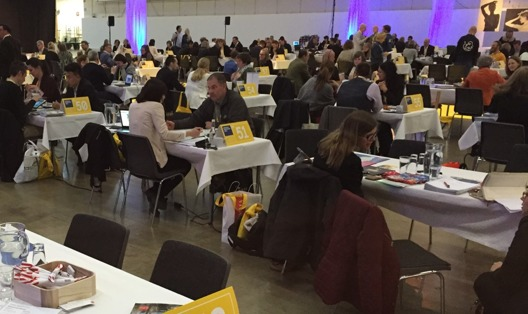 Möten i full gång på Swedish Workshop. Småland hade ett bord med totalt 21 möten på en dag.