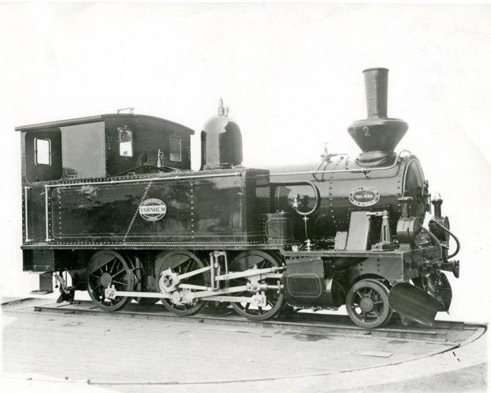 """E. 4 (1) Loket """"VARNHEM"""" från Motala Verkstad 1903 - SAJ's andra lok på linjen. Insatt av Kent Friman, 2014-02-28. Läs mer på www.saj-banan.se!"""