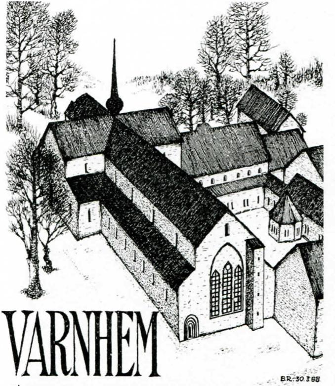 Nedan inledningsorden i det generalprogram som framställdes till den första sommarmusiken i Varnhem 1970. Teckning Bo Ramviken, för program 1988.