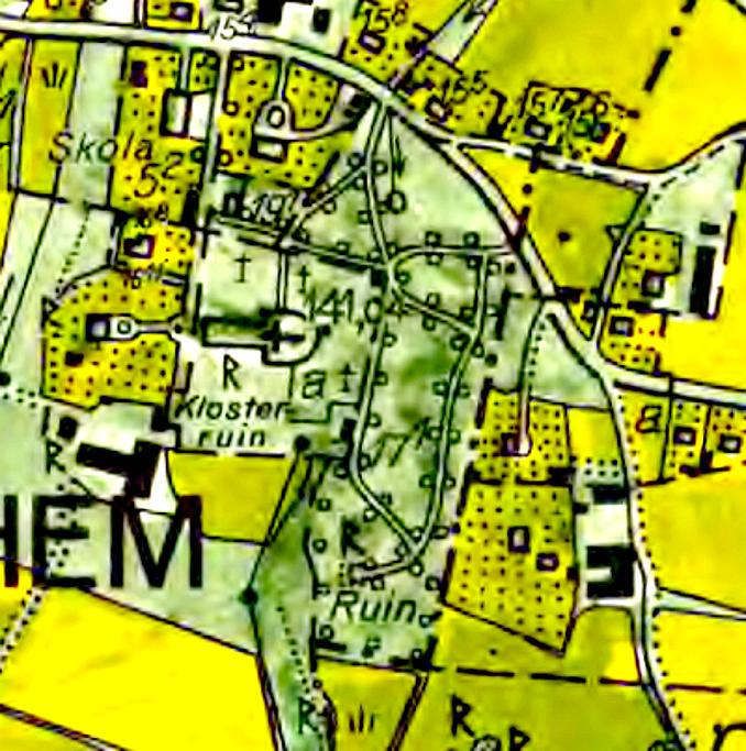 1960 års ekonomiska karta. Lantmäteriet Historiska Kartor med publiceringstillstånd.