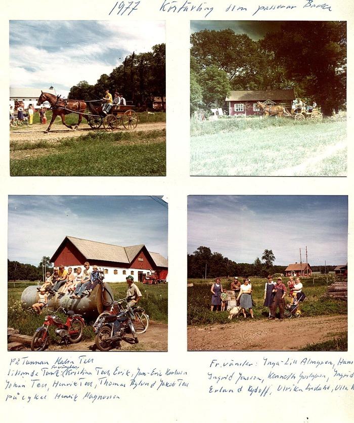 Bild från Carl Arvid Tell, Backa gård. SM i Körtävling som passerar Backa gård 1977. Insatt av Kent Friman efter fotokväll 2015-09-17.