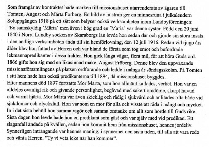 Ur Varnhemsbygden 2011, artikel av Brigitta Johansson 1981/82