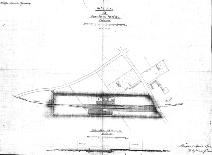 Kartorna nedan finns med i den samling som lagts upp av Järnvägsmusei Vänners bildprojekt på uppdrag av Sveriges Järnvägsmuseum. De har skannat ett stort antal bangårdsritningar från SJK:s arkiv.