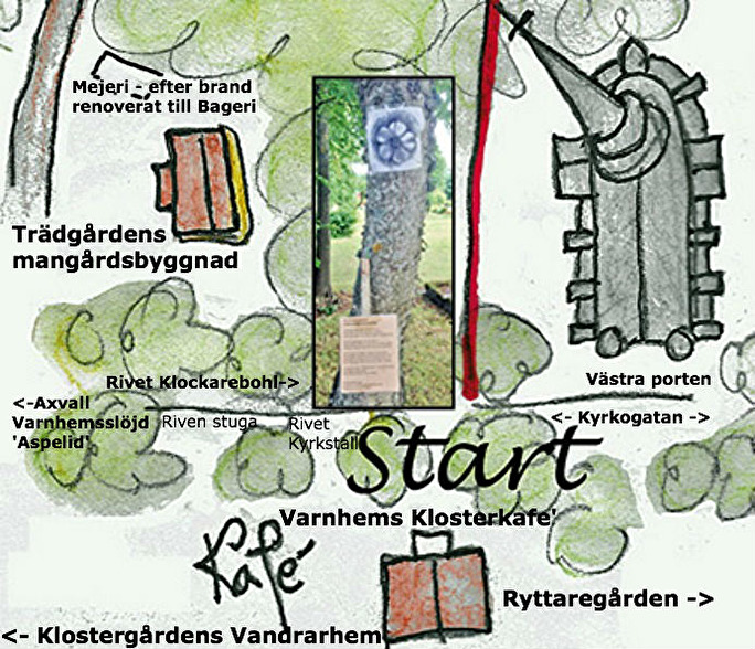 Orginalet framtaget av Karin Welin, Eriksdal, Varnhem (Konsumhuset) - hembygdsmannen Nils Lanns dotter-dotter. Kent Friman har fyllt i.