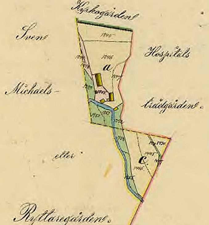Hammars kvarns byggnader 1883