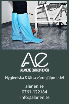 Nytt hjälpmedel vid bad & dusch för personal inom vård & omsorg, hemtjänsten, landsting, kommun & personlig assistans. Duschstrumpan Alanen.