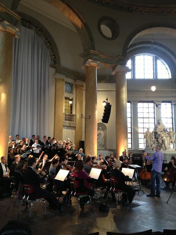 During rehearsal of Requiem by W A Mozart in Eric Ericsonhallen