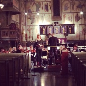 Dress rehearsal of Symphony of Sorrowful Songs