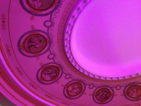 The ceiling of Cassels.