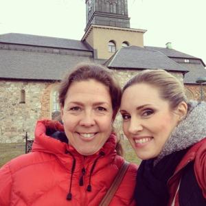 Ivonne Fuchs and Hannah Holgersson at Vårfrukyrkan, Enköping.