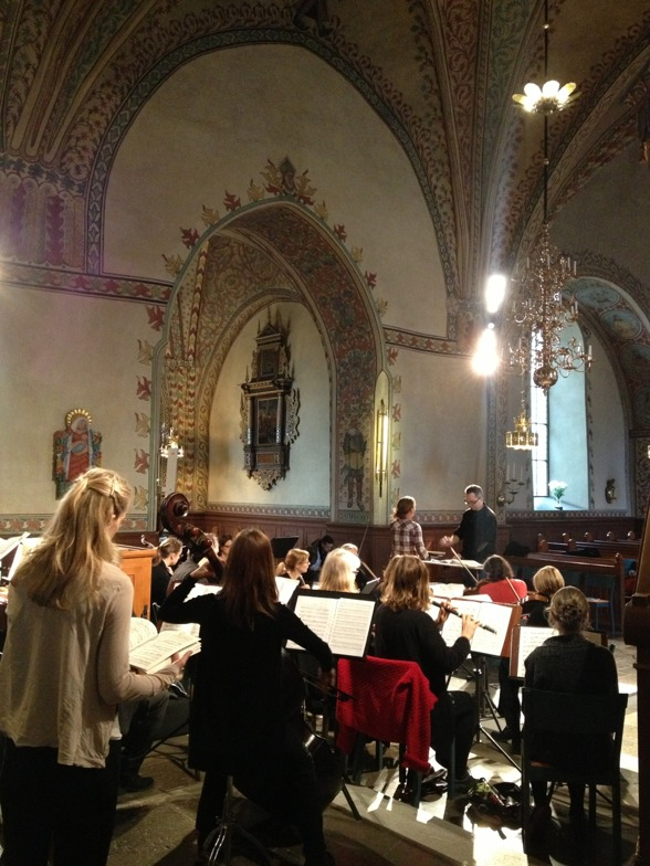 Dress rehearsal of St Matthew Passion in Vårfrukyrkan, Enköping.