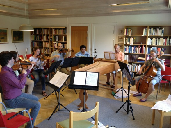 During rehearsal today; Aureliusz & Ewa Golinscy, Julia Dagerfelt, Rastko Roknic, Dohyo Sol, Peter Lönnerberg and Judith-maria Blomsterberg.
