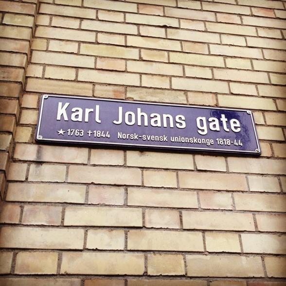 The main street Karl Johan in Oslo!