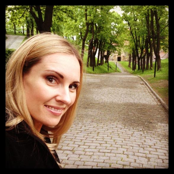 Hannah Holgersson during a wonderful walk at Akershus, Oslo.