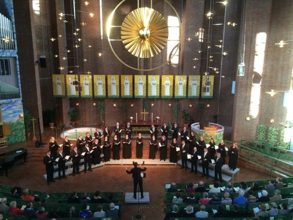 The Eric Ericson Chamber Choir during concert in Immanuelskyrkan, Stockholm.