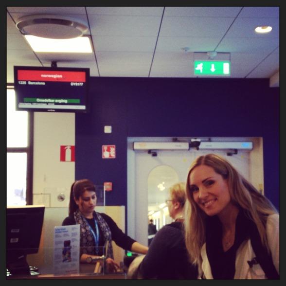 Hannah Holgersson at Arlanda airport. Boarding time!