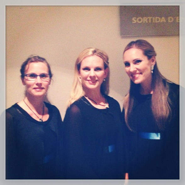 Thanks to my soprano colleagues Eva Ericsson Berglund and Elin Skorup! We did it!! =)