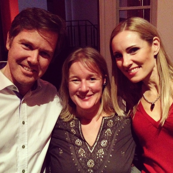 Christoffer Holgersson, Maria Lindal and Hannah Holgersson after the last performance!
