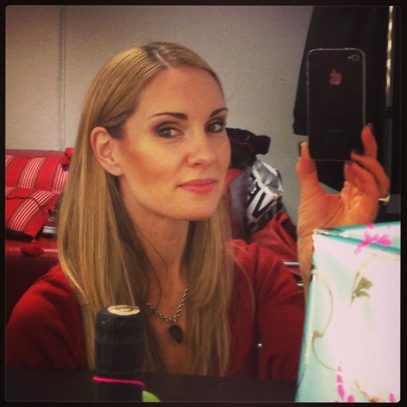 Goodbye selfie in the dressing room at Folkoperan.
