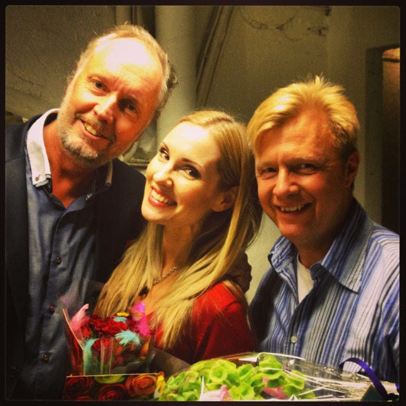 Embraced by the great bass duo of St Matthew Passion; Lars Arvidson and Anders Jalkéus!