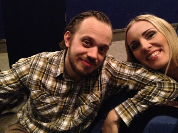 Conny Thimander and Hannah Holgersson before dress rehearsal yesterday!
