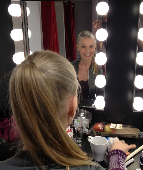 Beautiful Katarina Henryson in the dressing room!