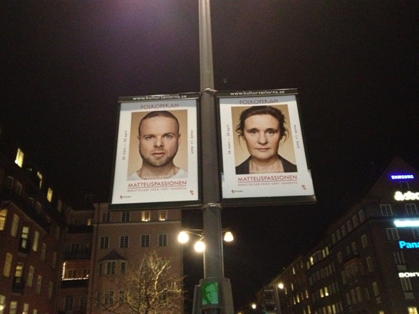 Posters of the upcoming St Matthew Passion seen everywhere!