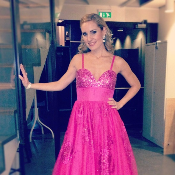 Hannah Holgersson before entering the stage!