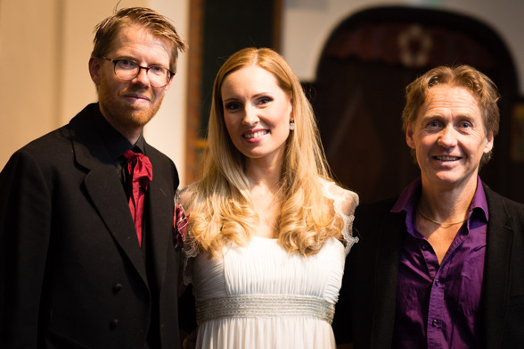 Conductor David Åberg, soprano Hannah Holgersson and composer Kjell Perder! Photo: Rikard Karlsson