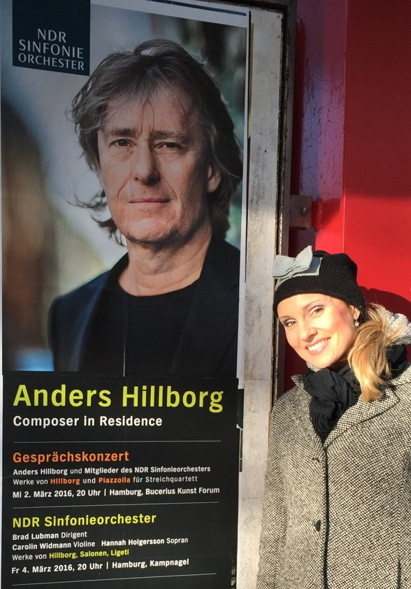 Hannah Holgersson singing music by Anders Hillborg with NDR Sinfonieorchester