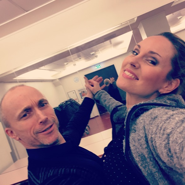 Dance rehearsal with one of the Norwegian winners of Let's Dance!