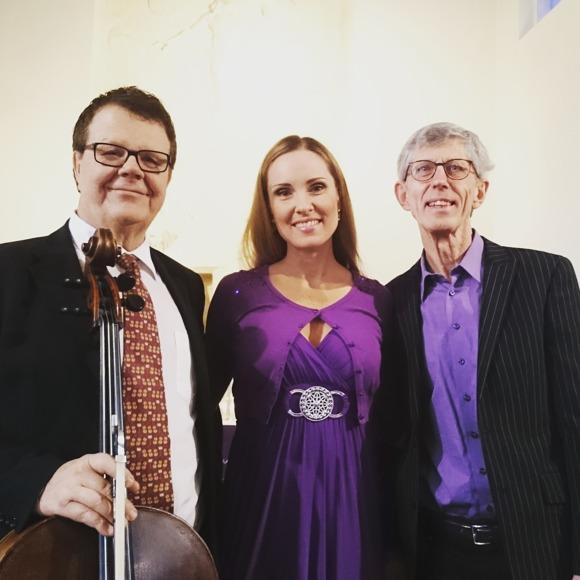 Kjell Bjurling, Hannah Holgersson and Alwar Almkvisth in Hagalunds kyrka, Solna.