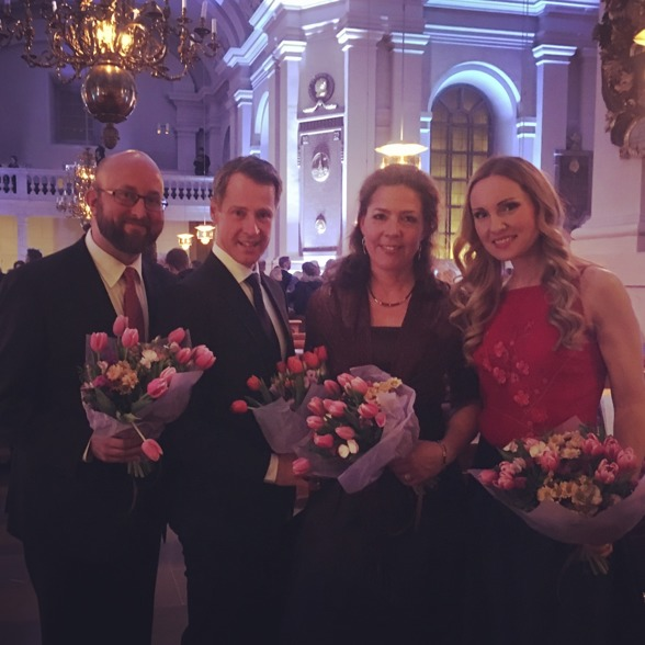 From the left: Johan Wållberg, Johan Christensson, Ivonne Fuchs and Hannah Holgersson