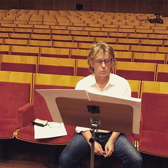 Anders Hillborg and film-maker Fredrik Wenzel during rehearsal of Aeterna
