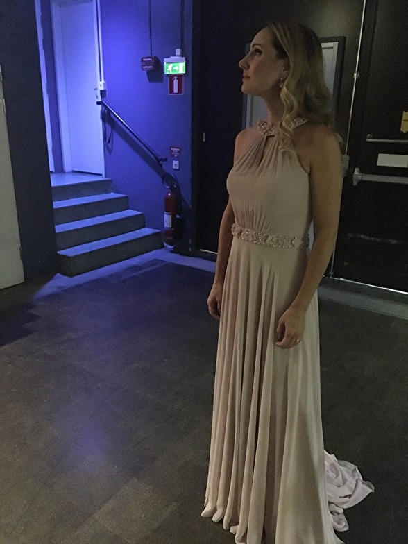 Hannah Holgersson waiting back stage. Soon entering the stage...