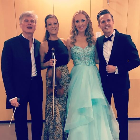 Massimo Zanetti, Claudia Bonfiglioli, Hannah Holgersson, David Lindgren after performning La Dolce Vita