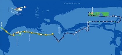 Väldig enkel karta över marathonbanan