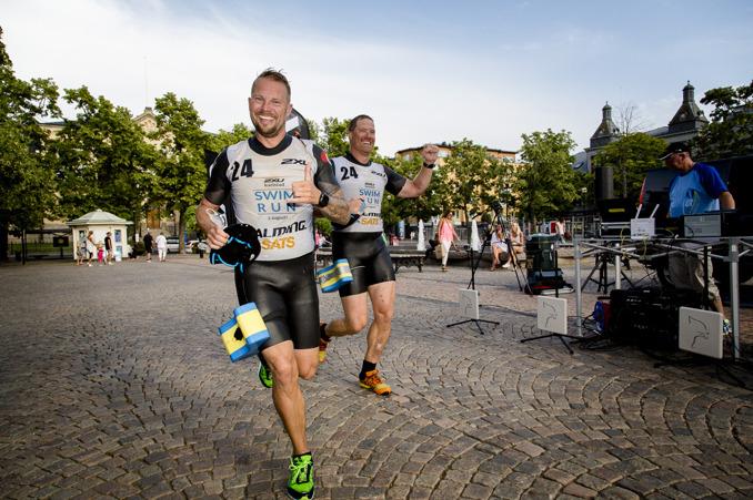 foto:karlstadswimrun.se; Målgången och den där sköna känslan av tillfredsställelse!